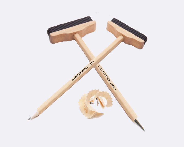 2 in 1 wood pen /wood pencil with brush