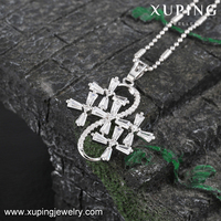 32711 XUPING Crystal cross pendant artificial jewellery catholic pendant gemstone