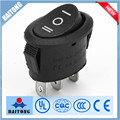 6A/10A 3pin 3ways rocker switch with black cover