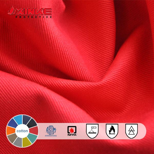 100% cotton warp knitting flame resistant fabric