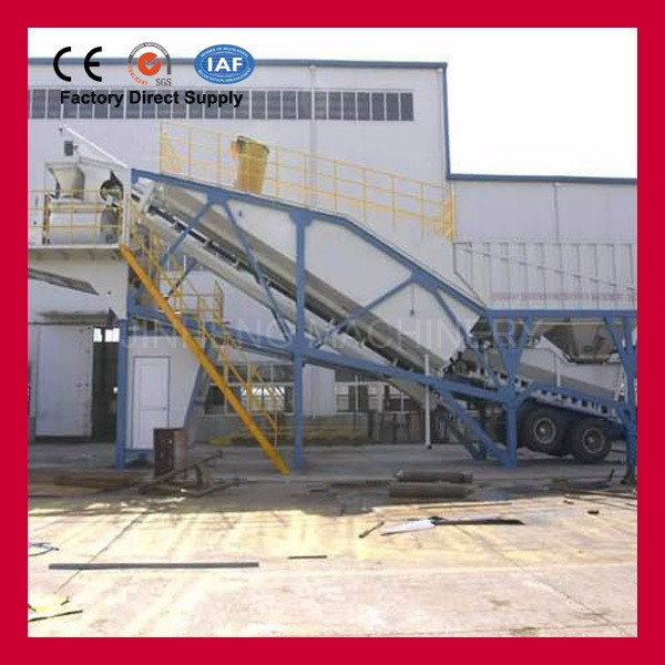 25 cubic meters trailerable cement mixing statons