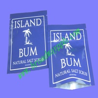 factoty custom printed disposable foot scrub/lotion package plastic sachet