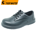 2017 hot Black microfiber leather composite toe cap office safety shoes for men
