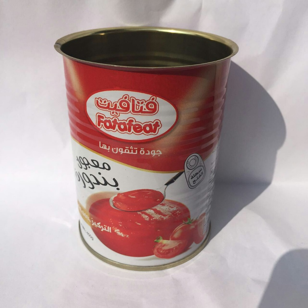 2016 High quality and best price canned tomato paste with100% natrual tomatoes