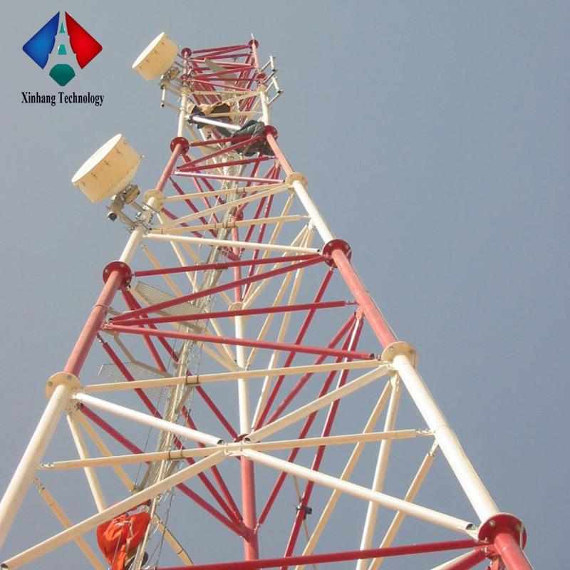 Alibaba China GSM Antenna Communication 3 Legged Steel Pipe Tower