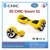 Yellow IO chic smart S1 two 2 wheels self balancing electric scooter hands free self balancing CHIC SMART hover boards