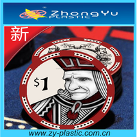 Ceramic Custom Poker Chips For Display Box Pakaging
