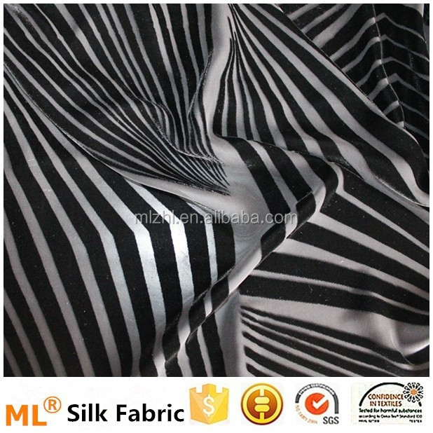 Silk burnt-out velvet high quality silk fabric