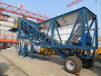 Mobile Ready mix concrete plant 50m3 concrete batching plant for sale