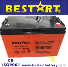 12V100AH Deep cycle gel storage battery for renewable energy system