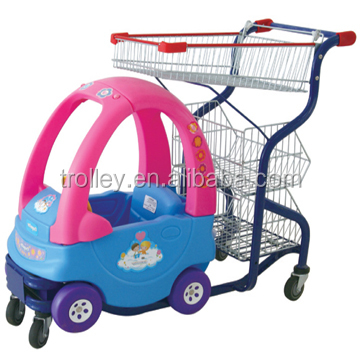 Hot sales Supermarket Children shopping trolley,kids shopping trolley