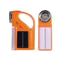 High power multifunction solar led flashlight sith side light