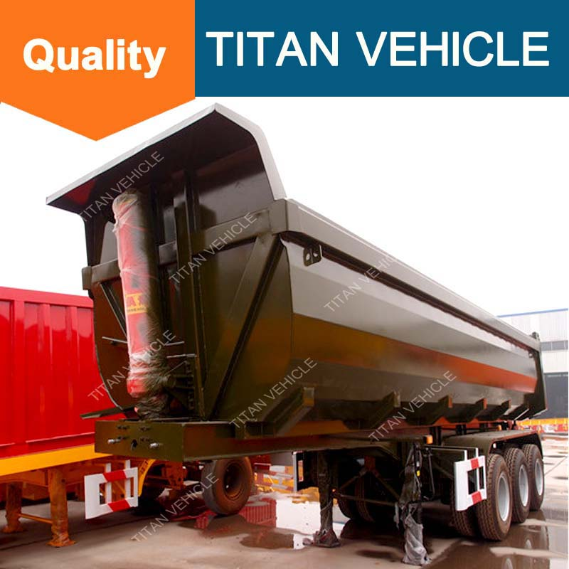 China Tipper Truck And Trailer / Dump Tipper Truck Trailer Side Tipping Truck Trailer