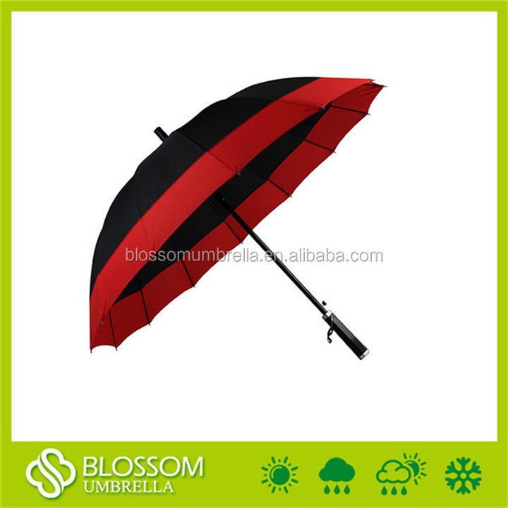 New portable waterproof windproof polyester golf new umbrella invention