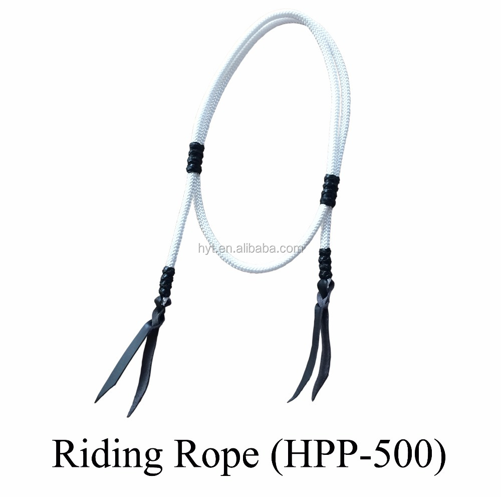 horse lead rope equestrian product with leather knots