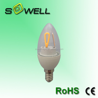 170-260V 5W E14 CE/EMC/GS/ERP/SASO Glass cover COB C37 LED Filament bulbs