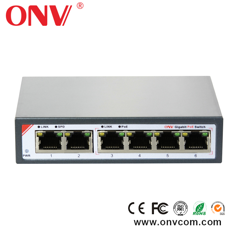 48V 120W 8 Ports 7 PoE Injector Power ALL Gigabit Over Ethernet Switch 4,5+/7,8- shopping on line wholesales popular in London
