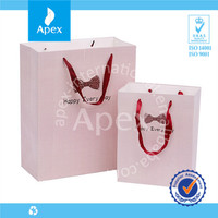 High quality pink wedding paper gift bags