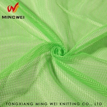 100% Polyester Durable Waterproof Green Mesh Fabric for Jacket Fluorescent