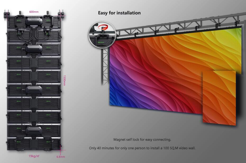 Outdoor Flexible LED Displays Rental LED Displays
