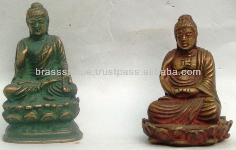 Lord Buddha in meditating Dhyana Mudra with Deft Carving