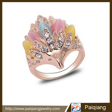 Fashionable personalized exaggerated opal hedgehog finger ring