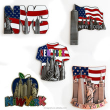 5 Set New York Souvenir Metal Fridge Magnet 3D Fridge Magnet