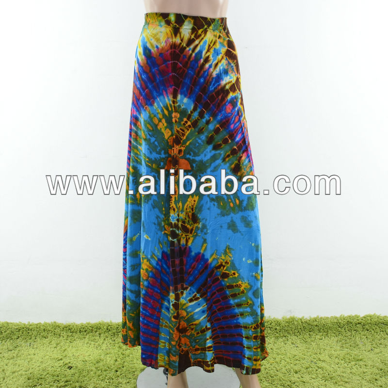 Ethnic Tie Dye Gypsy Skirt