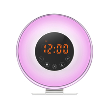 Fm Radio Led 7 Color Change Alarm Clock Wake Up Light