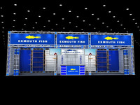 Shanghai custom aluminum truss display, exhibit stands display with furnitures export to abroad 04
