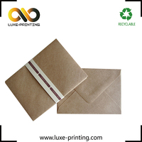 Sceen protector packaging kraft envelope paper packaging for cell phone screen