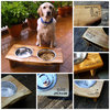 Bamboo pet accessory Personalized Dog Feeder Elevated Pet Feeder with Stainless Steel Bowls