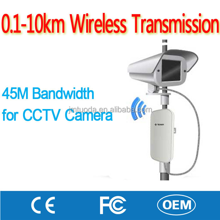 Manufacture 0.5KM Wireless No Cable Transmission for IP RJ45 Network Web Camera