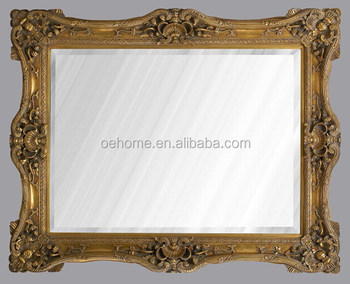 High quality baroque style resin pu wall mounted mirror for Plastic baroque mirror