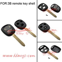 Good Price toyota remote control car key shell key blanks of 3button with logo