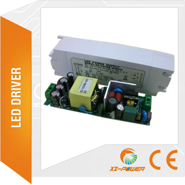 Isolation led driver factory SAA CE TUV CB led driver 24W DC 15-28V