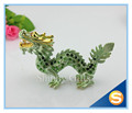 Shinny Gifts FengShui Metal Craft Dragon Gold Trinket Box Jewelry Box Wholesales