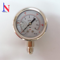 High Quality Dual Sacle All Steel Pressure Gauge Shock Proof