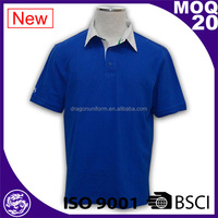 Promote Uniform Mens Apparel Polo Shirts for Men Blue 100% Cotton, Polo Shirt Design for Worker, Polo T-shirt