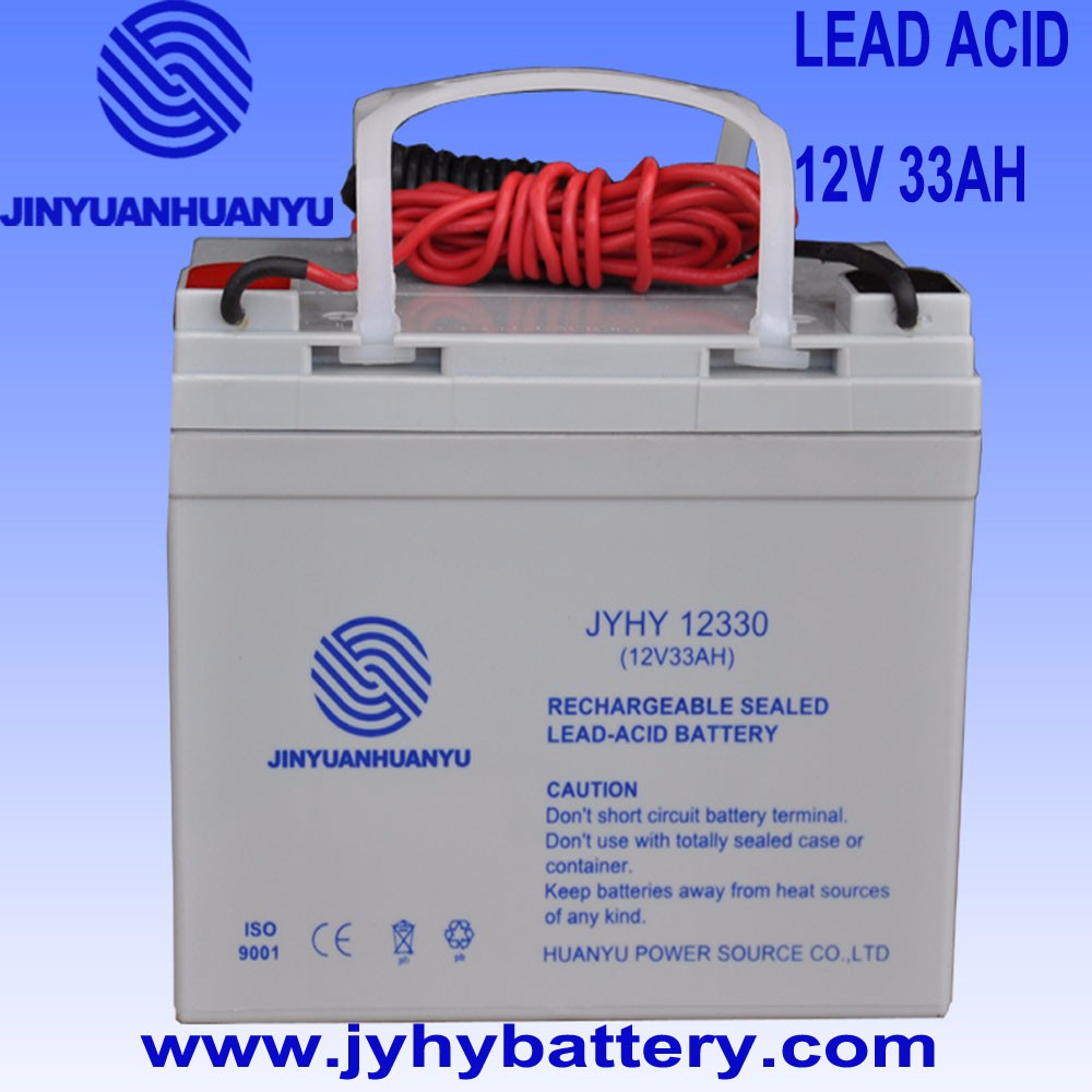 Rechargeable Deep Cycle Sealed Lead Acid Storage Battery 12V 33AH