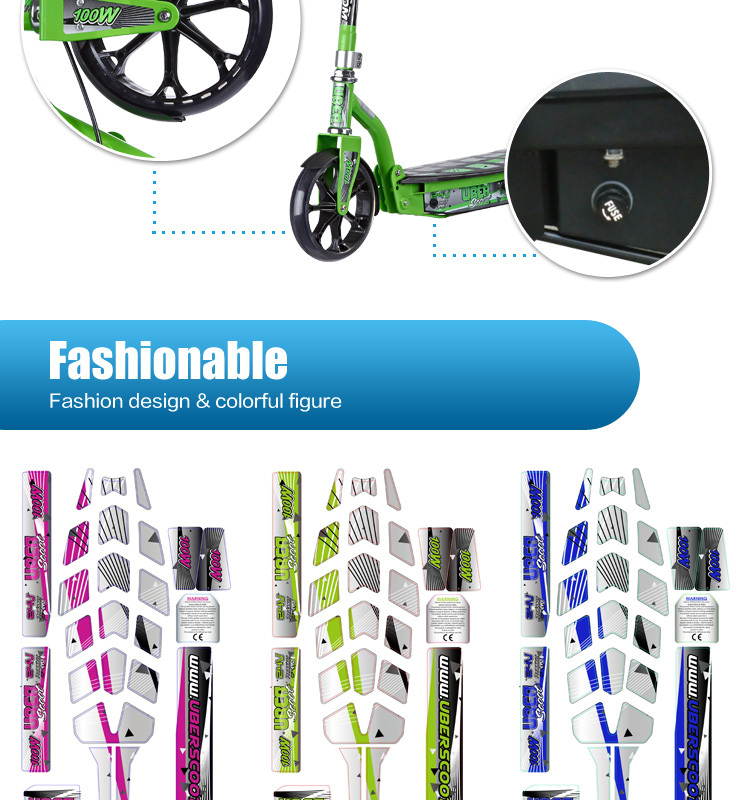CE approval 100W Lithium Battery Lightweight Electric Kids 2 Wheel Folding Mobility Scooter