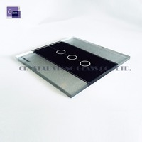 silver color touch screen glass/gorilla glass for touch screen