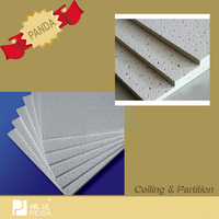 Sound Absorption Mineral Fiber Acoustical Suspended Ceiling Tiles
