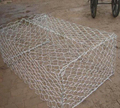 Galvanized iron wire twisted stone cages for sustaining & strengthening projects