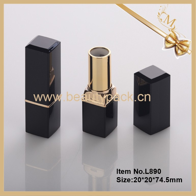 OEM empty luxury square lipstick container packaging cosmetic