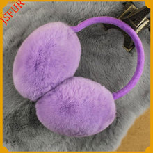 Wholesale Genuine Rabbit Fur For Motorcycle Colourful Earmuffs