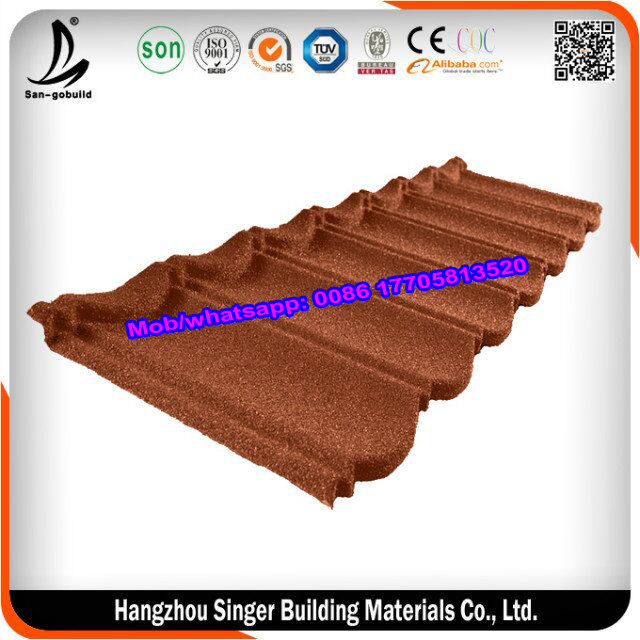 Manufactured stone coated chip roofing sheet classical type concrete roof tile price for sale