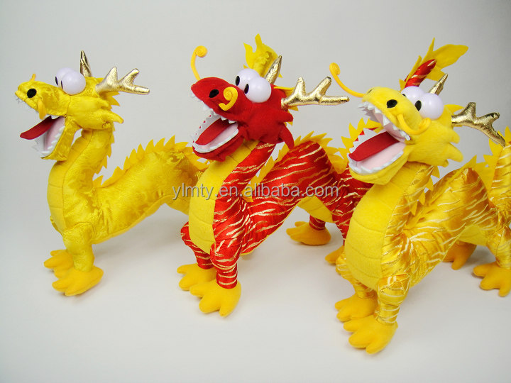 Newest custom funny happy Chinese Dragon animal girl toys