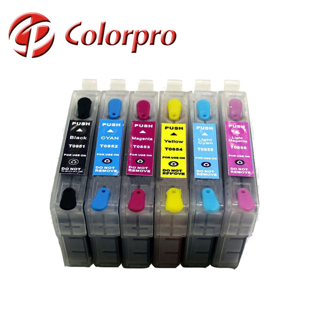 Refillable Ink Cartridge T0851 -T0856 for epson Stylus Photo 1390 for Epson T0851
