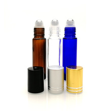 5ml 10ml amber clear blue glass roll on perfume bottles with stainless steel ball 2ml 3ml essential oil roller glass bottle